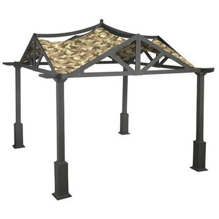 Garden Winds Replacement Canopy Top Cover for the Garden Treasures 10 x 10 Pergola -Standard 350 - Camo Sand ()