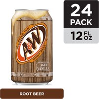 A&W Root Beer, 12 fl oz cans, 24 pack