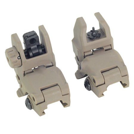 KABOER 2PCS Tactical Folding AR Front Rear Flip Up Backup Sights Well-liked