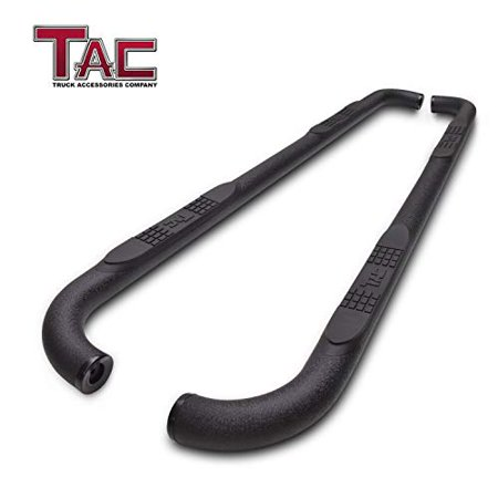 "TAC Side Steps Running Boards Fit 2015-2019 Ford F150 Supercrew Cab /2017-2019 Ford F250/350/450/550 Super Duty Crew Cab Truck Pickup 3"" Texture Black Side Bars Nerf Bars Off Road Accessories"