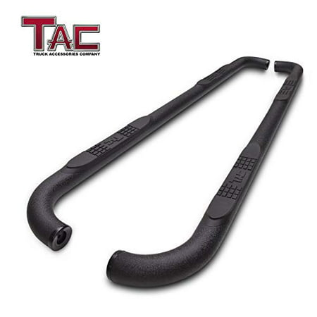"TAC Side Steps Running Boards Fit 2019 Dodge Ram 1500 Quad Cab (Excl. 2019 Ram 1500 Classic) Truck Pickup 3"" Texture Black Side Bars Nerf Bars Step Rails Off Road Exterior Accessories (2"