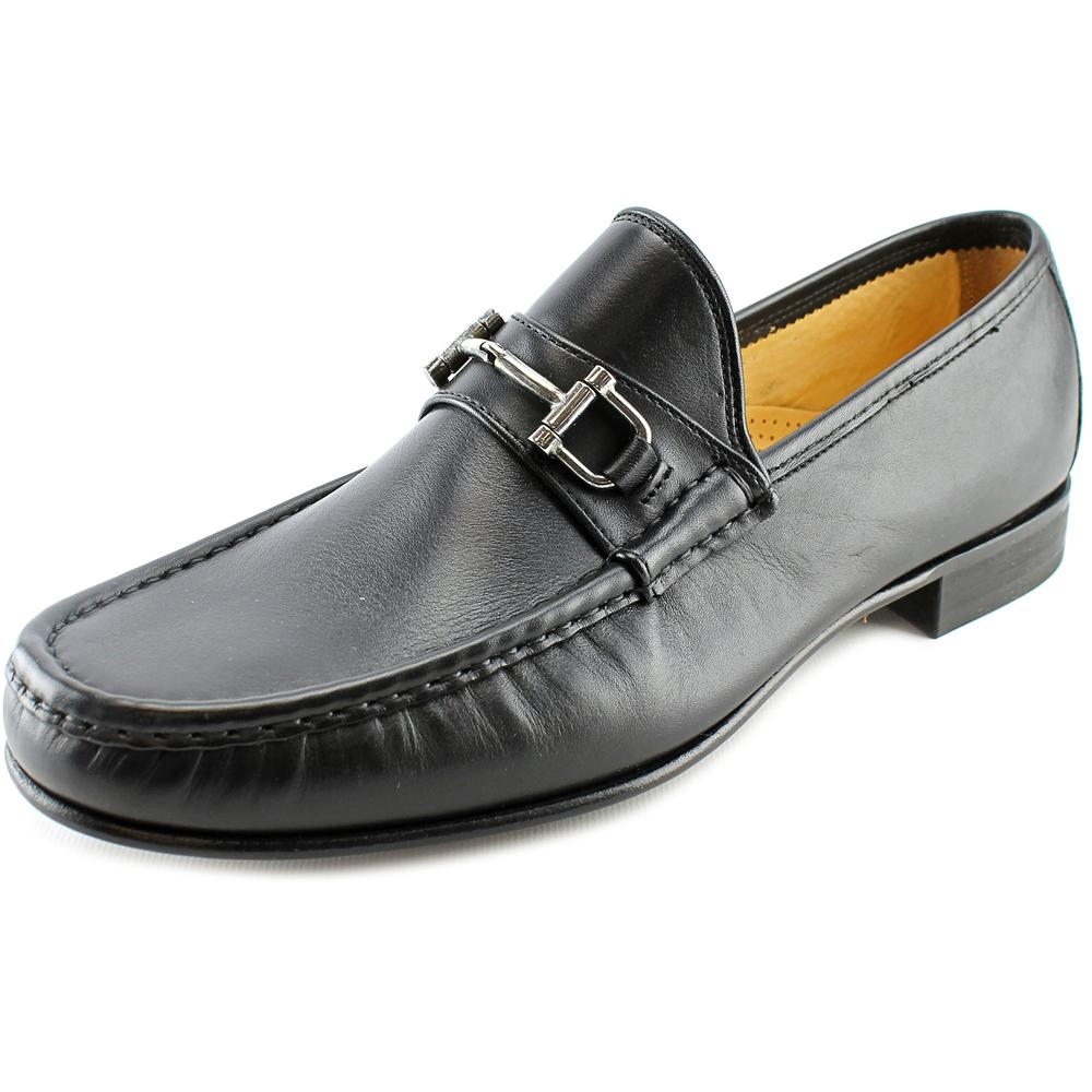 Mercanti Fiorentini Bombe 855 Bit Moc So Men  Moc Toe Leather Black Loafer