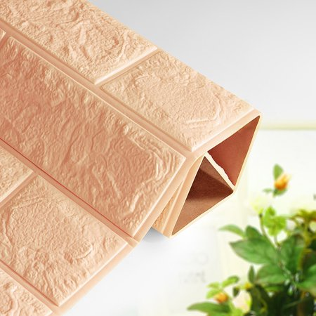 DIY 3D Brick PE Foam Wallpaper Panels Room Decal Stone Decoration Embossed