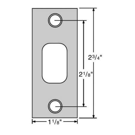 "Kwikset 85278 2-3/4"" x 1-1/8"" Square Corner Strike Plate"