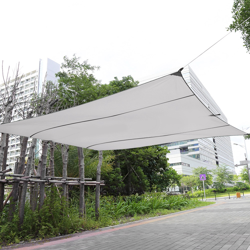 Patio Canopy, Sun Shade Canopy,Fosa New Sand Sun Shade Sail Sunscreen Rectangle Polyester Awning Canopy Outdoor Garden Patio 4.5*5m