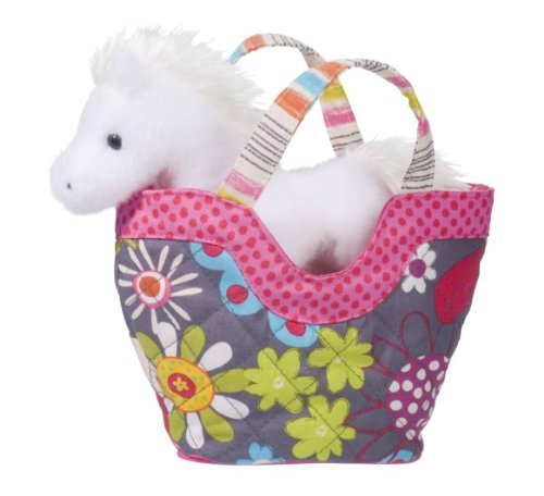 Fly Away Sassy Pet Sak with White Horse by Douglas Cuddle Toys