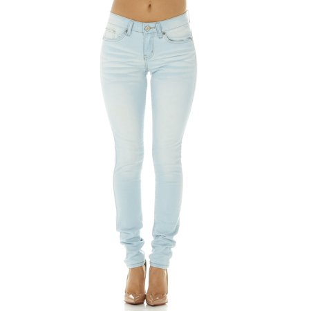 989e6cb2659 Cover Girl - Cover Girl Denim Jeans for Women Juniors Mid Rise Slim Fit  Stretchy Skinny Jeans Size 11  12 BABY BLUE - Walmart.com