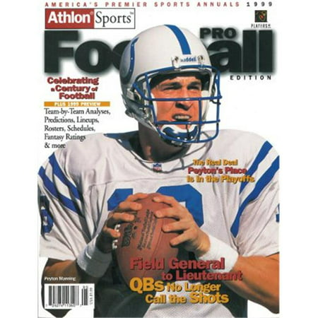 Athlon Ctbl 012270 Peyton Manning Unsigned Indianapolis Colts Sports 1999 Nfl Pro Football Preview Magazine