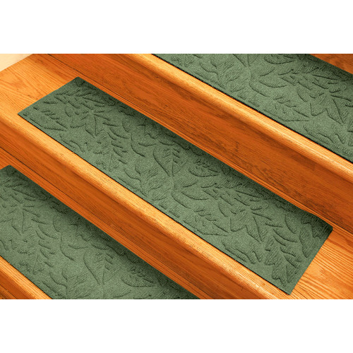 Bungalow Flooring Aqua Shield Light Green Fall Day Stair Tread (Set of 4)