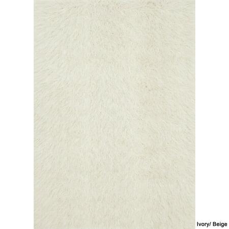 Alexander Home Faux Fur Sheepskin Textured Shag Rug   2 X 3