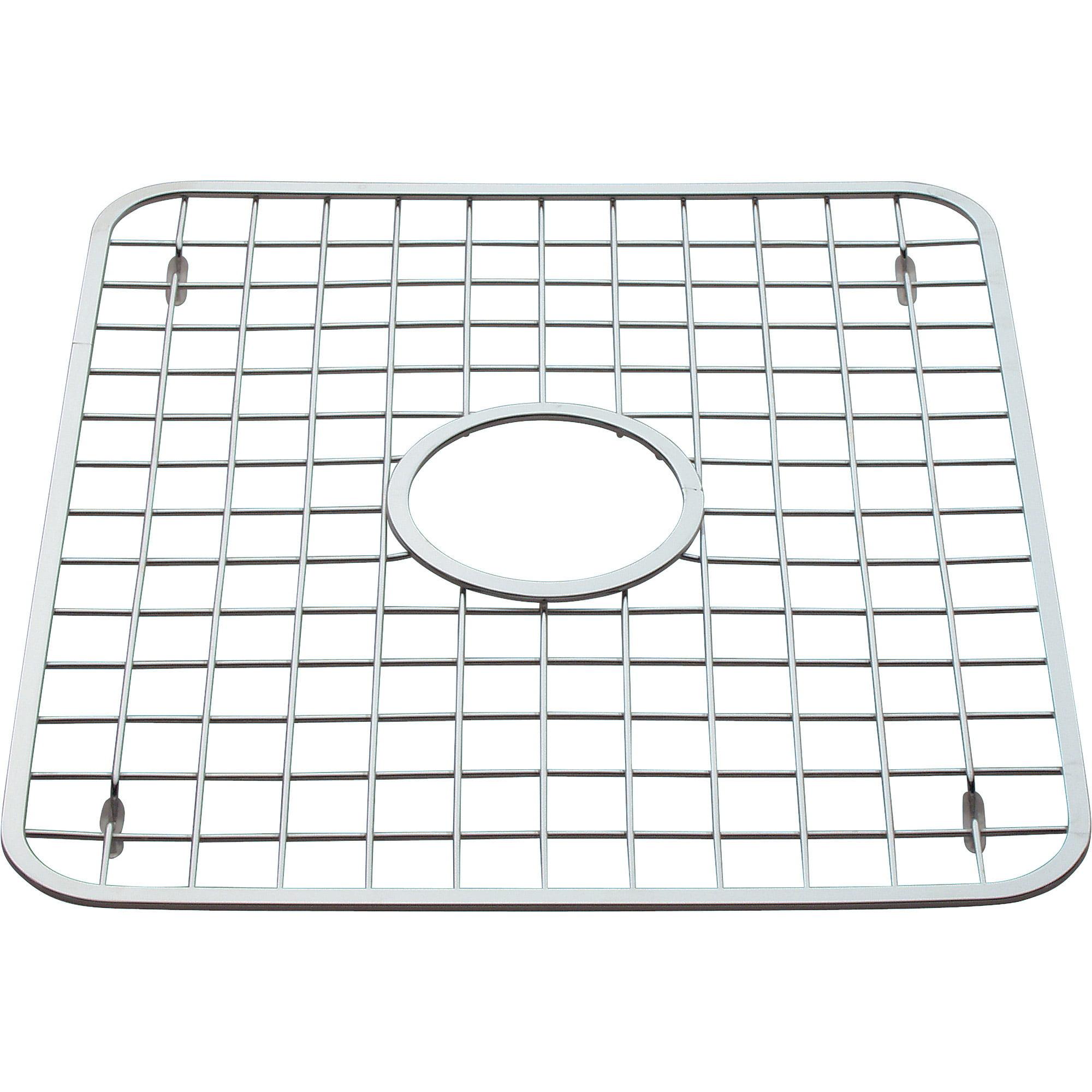 interdesign sink grid with drain hole 12 75 x 11 walmart