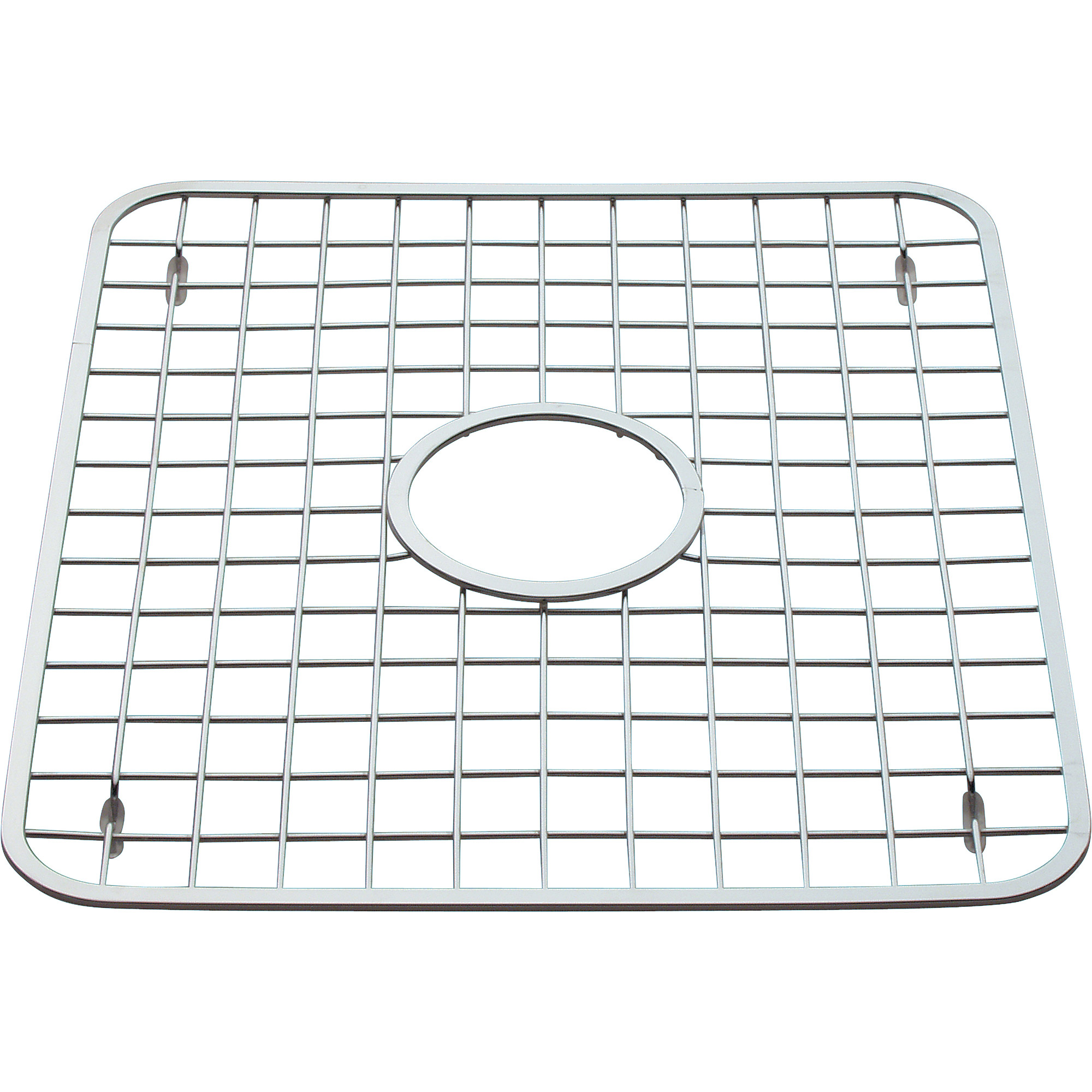 "InterDesign Sink Grid with Drain Hole, 12.75"" x 11"""