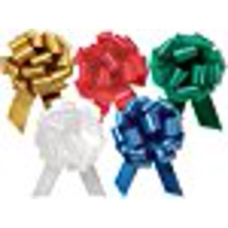 Anniversary Wedding Gift Wrap - A1BakerySupplies Gift Wrap Christmas Wedding Gift Wrap Pull Bows Large Pull String Bows 5.5 Inch 20 Loop - Set of 10 (Christmas Assorted)