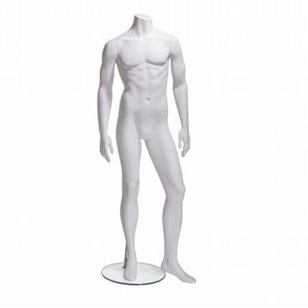 Econoco GEN-2-HL Male Mannequin - Headless, Arms by Side, Left Leg Slightly Forward - image 1 de 1