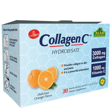 Douglas Laboratories Vitamin C Vitamins (Collagen C Hydrolysate with Vitamin C - Powder Supplement - 30 Pack)