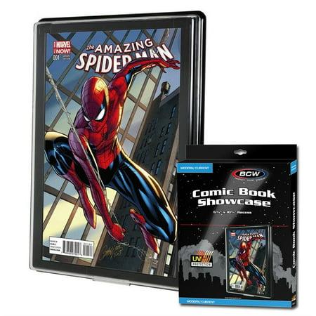 (Qt.1) BCW UV Current/Modern Comic Book Showcases Wall Mountable Display -