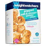 Weight Watchers Crunchy Snacks, Popped Salt & Vinegar Potato Crisps, 5 bags per box (Pack of