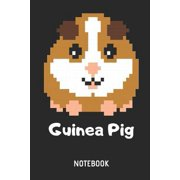 Guinea Pig Notebook: Retro Guinea Pig Pixel Lined Journal for Women, Men and Kids. Great Gift Idea for All Cavy Lover Gamer Girls and Video Paperback