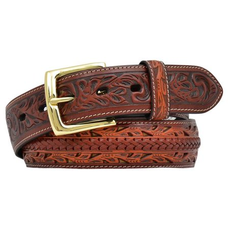 3d belt mens western filigree lacing floral tooled natural 5634