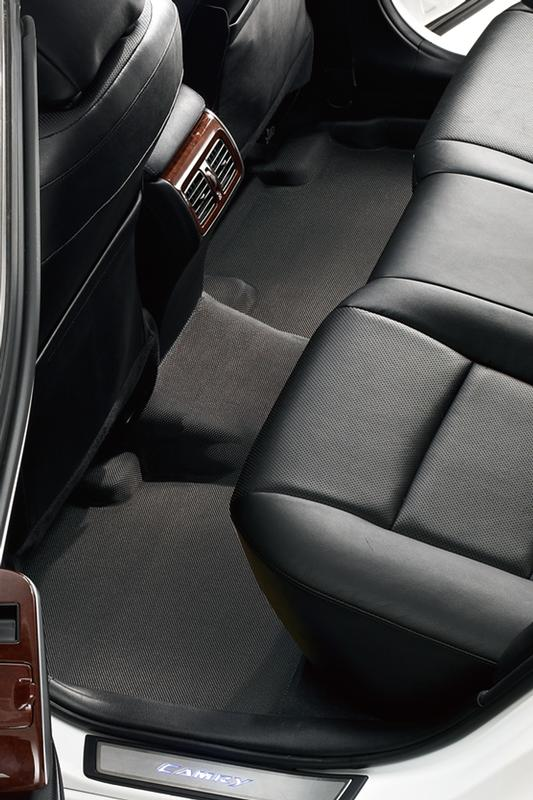 Black 3D MAXpider Second Row Custom Fit All-Weather Floor Mat for Select Nissan Rogue Models L1NS02921509 Kagu Rubber