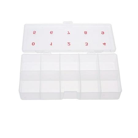 2 x 5 Boîte de rangement vide en plastique transparent Ongle Art Tip Cell Mallette à outils - image 1 de 1