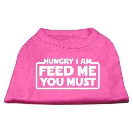 Hungry I am Screen Print Shirt Bright Pink XXL 18