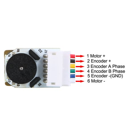 6V 150RPM DC Gear Motor w Encoder Speed Velocity Measurement for Model Plane - image 2 of 6