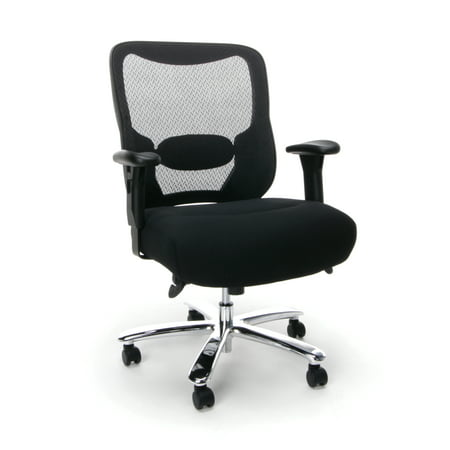 Essentials Collection Big and Tall Executive Office Chair with Arms Black - OFM