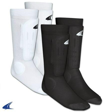 CHAMPRO Sock Style Shin Guard Black Small ()