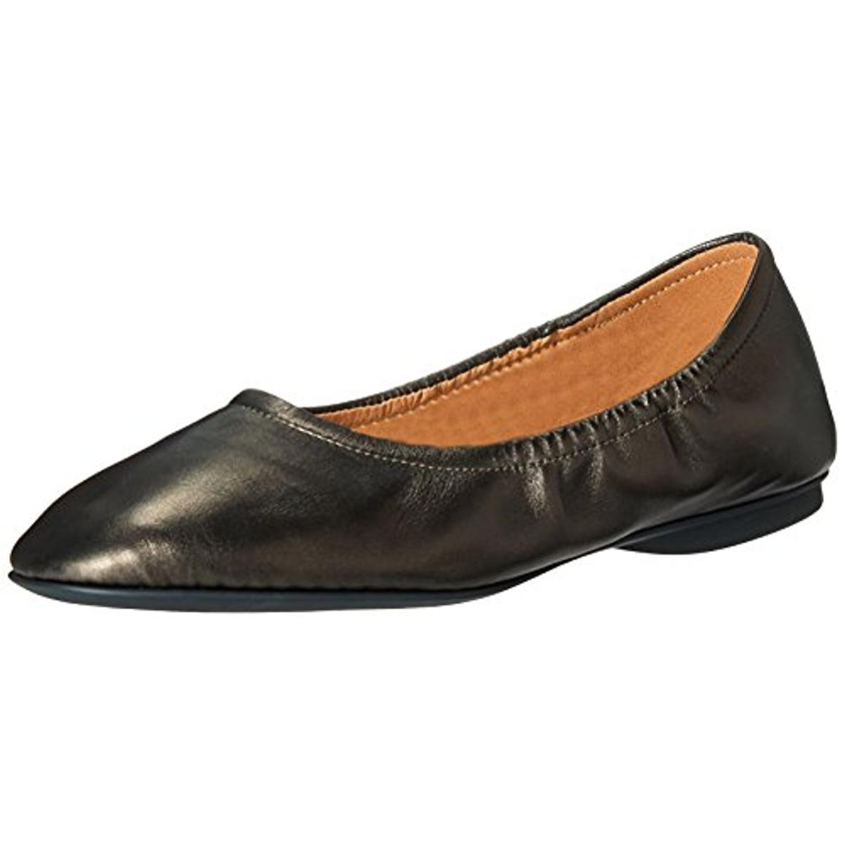 ECCO Womens Taisha Leather Round Toe Ballet Flats by Ecco