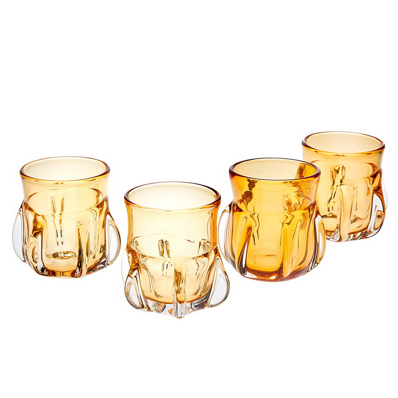 Godinger 76617 Amber Double Old Fashioned Glass