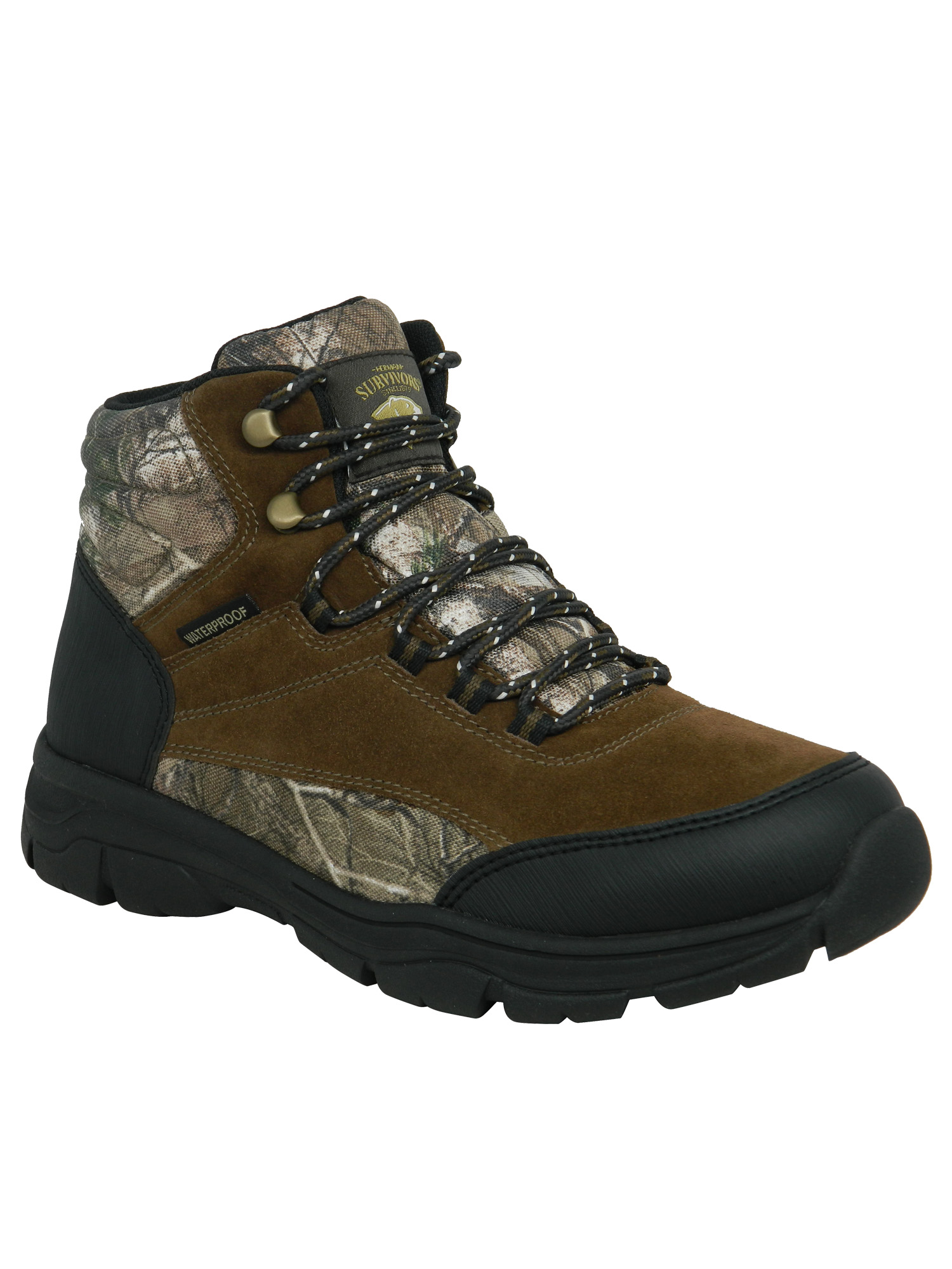 FarJing Mens Flat Casual Non-slip Comfort Boots Outdoor Hiking Boots Shoes
