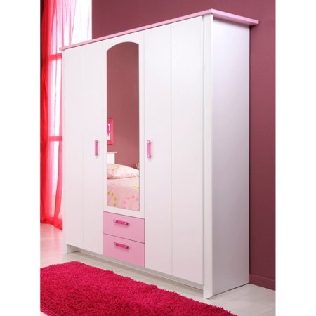 Parisot Beautiful 2 Door Wardrobe Armoire with - Mirrored Armoire Wardrobe