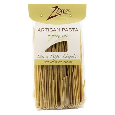 ZPasta Lemon Pepper Linguini - Bronze Cut Artisan Pasta 12 oz