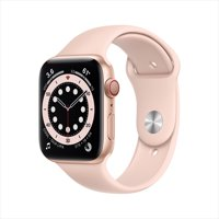Apple Watch Series 6 GPS + Cellular, 44mm Gold Aluminum Case with Pink Sand Sport Band - Regular