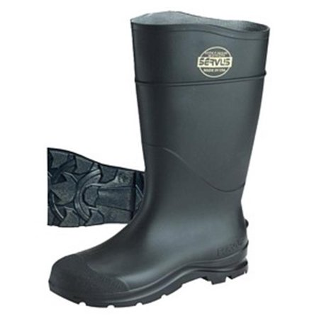 Servus 617-18821-BLM-050 16 in. PVC Safety Boot with Steel Toe, Black