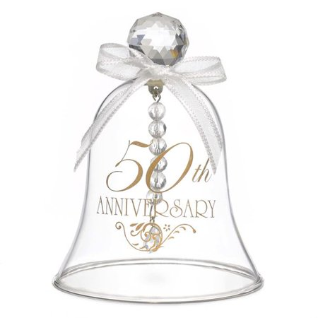 Le Prise 50th Anniversary Glass Bell - 50th Wedding Anniversary Games