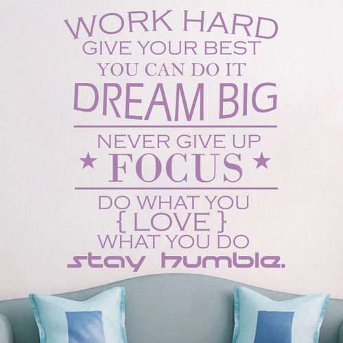 Decal House Work Hard Quote Wall Decal Walmart Com