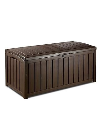 OnlyTheda Keter Glenwood 103 Gallon Wood Look Deck Box Patio Decorative Bench Seat New... by
