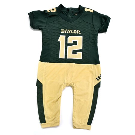 Baylor Bears Infant Onesie Football Uniform Pajama (Best Uniforms In Ncaa Football 12)
