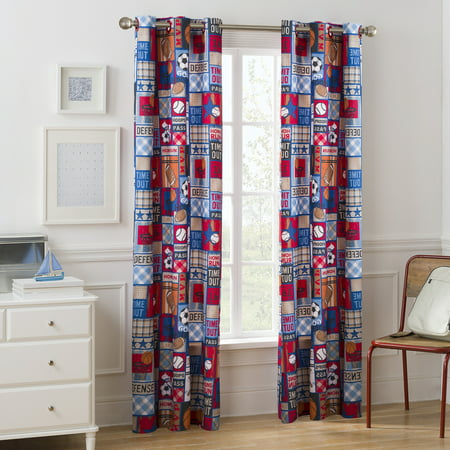 - Mainstays Grommet Room Darkening Sports Patch Boy's Bedroom Curtain Panel