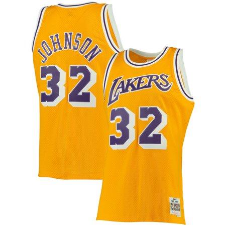 Magic Johnson Los Angeles Lakers Mitchell & Ness Big & Tall Hardwood Classics Jersey - Gold