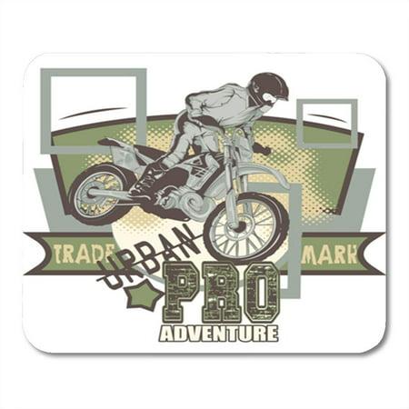 LADDKE Motocross Urban Adventure Motor Vintage Helmet Moto Cycle Extreme Mousepad Mouse Pad Mouse Mat 9x10 inch
