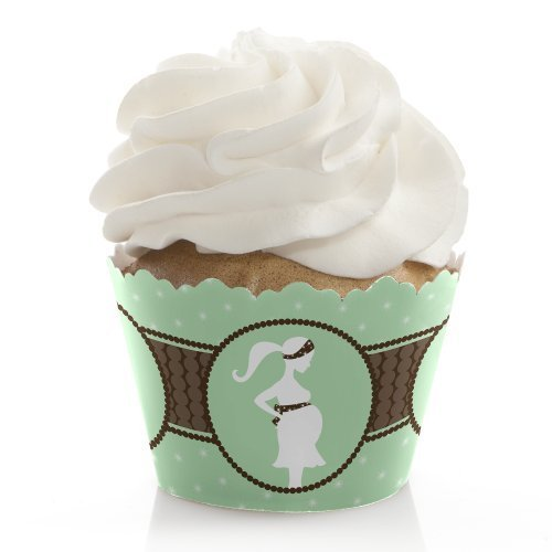 Mommy Silhouette It's a Baby - Baby Shower Cupcake Wrappers (set of 12)