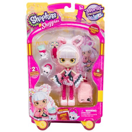 Shopkins Shoppies World Vacation Theme Dolls Asia  Sara Sushi