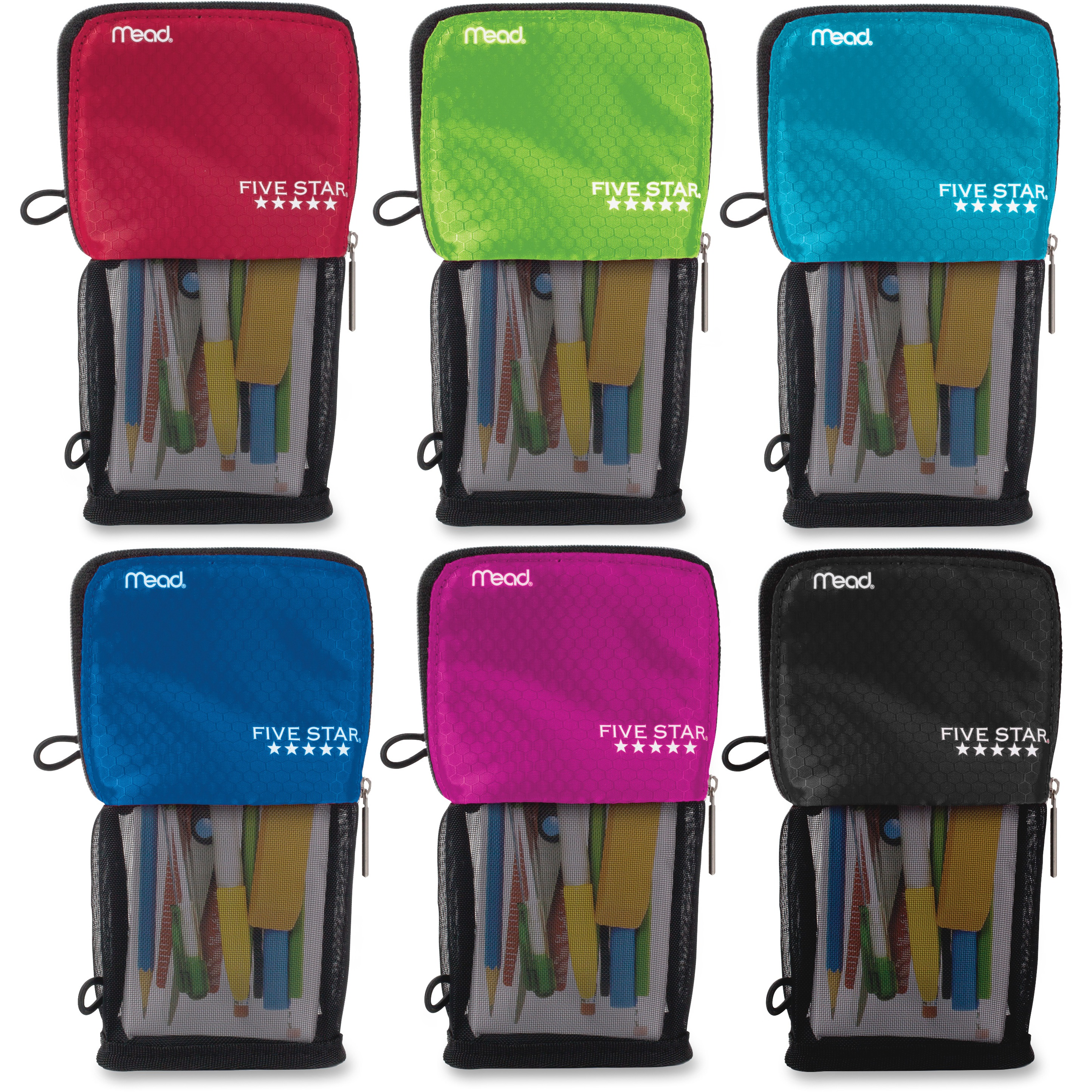 Five Star Stand 'N Store Pencil Pouch, Assorted Colors (50516)