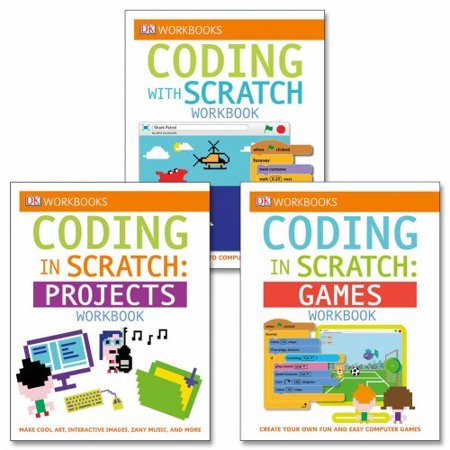 Coding With Scratch Workbook Set (Set of 3) - Paperback, 6 years & up   Easy, fun, and foundational By DK Publishing
