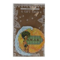 PAPAYA Sealed With A Kiss (S.W.A.K ) Woman Standing Glitter Gift Tag 6 Pack