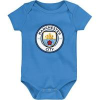 Manchester City Infant Primary Logo Bodysuit - Light Blue