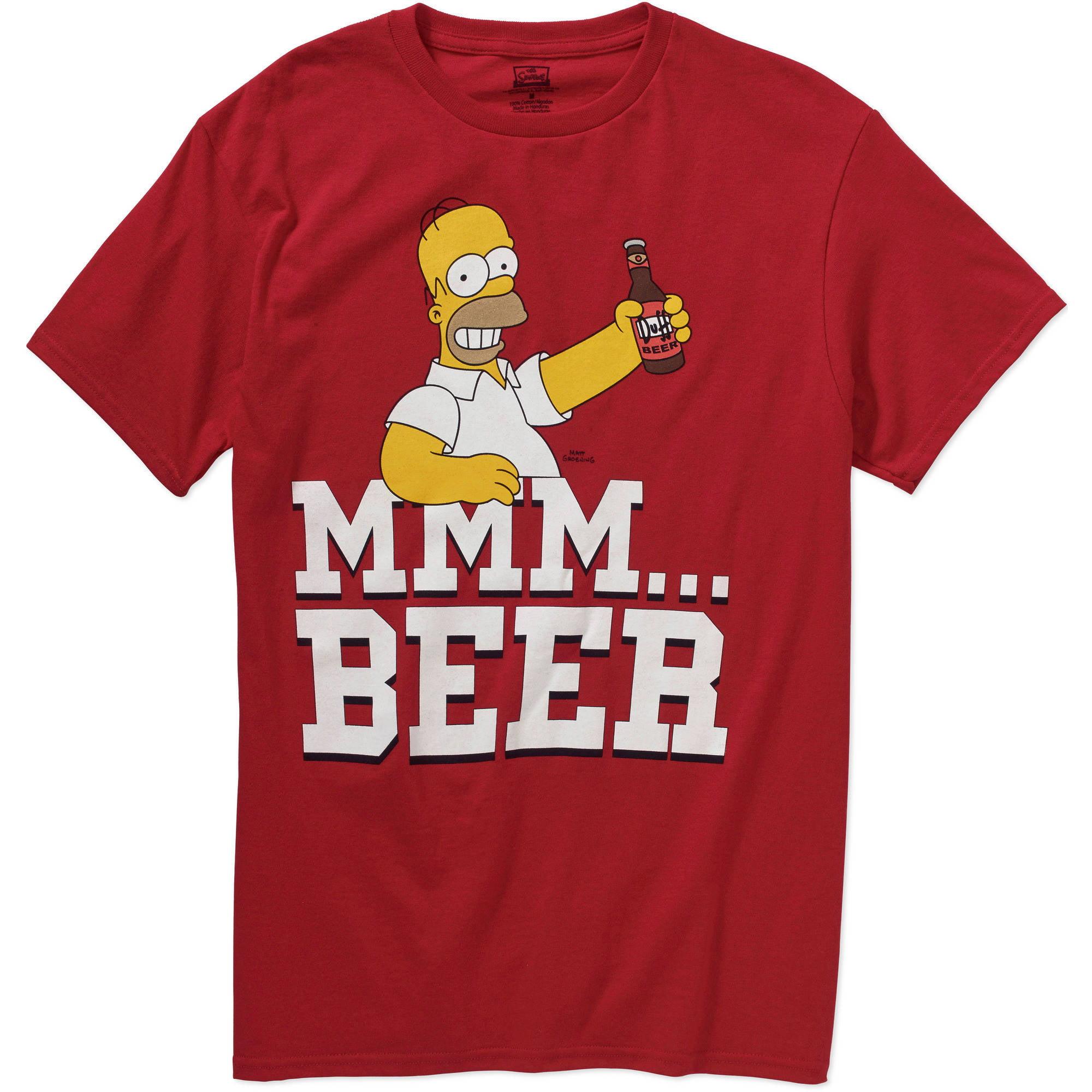 Simpsons Homer Mmm Beer  Big Men's Graphic Tee
